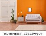 orange living room and orange... | Shutterstock . vector #1192299904