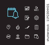 task icons set. delegate tasks...