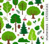 forest tree pattern with... | Shutterstock .eps vector #1192316161