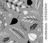 seamless hand drawn pattern... | Shutterstock .eps vector #1192322914