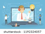 technical support concept. idea ... | Shutterstock .eps vector #1192324057