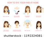 how to dye your hair at home... | Shutterstock .eps vector #1192324081