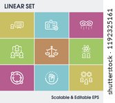 human resource icon set and...   Shutterstock .eps vector #1192325161