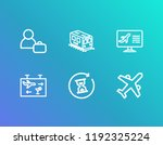 airport icon set and person... | Shutterstock .eps vector #1192325224