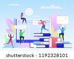 education  video tutorial ... | Shutterstock .eps vector #1192328101