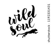 hand sketched wild soul text.... | Shutterstock .eps vector #1192331431