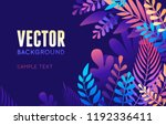 vector illustration in trendy... | Shutterstock .eps vector #1192336411