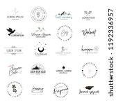 versatile logo templates...   Shutterstock .eps vector #1192336957