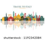italy colorful detailed... | Shutterstock .eps vector #1192342084