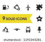 industry icons set with tram ... | Shutterstock .eps vector #1192343281