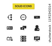 work icons set with group of...