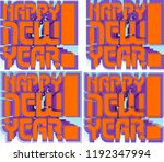 greeting the new year in the... | Shutterstock .eps vector #1192347994