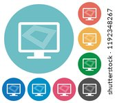 screen saver on monitor flat... | Shutterstock .eps vector #1192348267