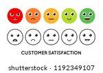 satisfaction rating. set of... | Shutterstock .eps vector #1192349107
