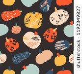 vector seamless pattern with... | Shutterstock .eps vector #1192349827