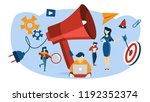 outbound marketing concept.... | Shutterstock .eps vector #1192352374