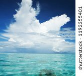 beautiful tropical seascape.... | Shutterstock . vector #1192355401