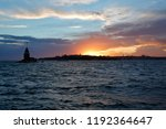 at sunset  the maiden's tower... | Shutterstock . vector #1192364647