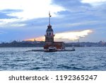 at sunset  the maiden's tower... | Shutterstock . vector #1192365247