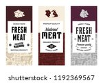 vector butchery logo. fresh... | Shutterstock .eps vector #1192369567