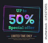 up to 50  percent sale... | Shutterstock .eps vector #1192372051