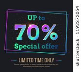 up to 70  percent sale... | Shutterstock .eps vector #1192372054