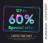 up to 60  percent sale... | Shutterstock .eps vector #1192372057