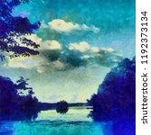 oil painting. art print for... | Shutterstock . vector #1192373134