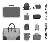 isolated object of suitcase and ...   Shutterstock .eps vector #1192375987