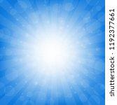 blue sunburst background with... | Shutterstock .eps vector #1192377661