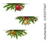 christmas garland set white... | Shutterstock .eps vector #1192377667