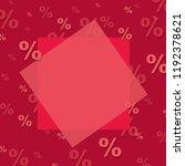red sale poster  | Shutterstock . vector #1192378621