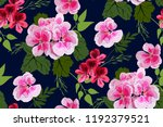 floral seamless pattern with... | Shutterstock .eps vector #1192379521