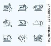seo icons line style set with... | Shutterstock .eps vector #1192380307