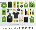 beer shop pub and restaurant... | Shutterstock .eps vector #1192389991