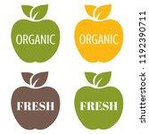 organic labels set | Shutterstock . vector #1192390711