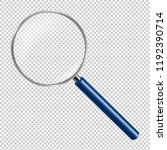 magnifying glass isolated  | Shutterstock . vector #1192390714