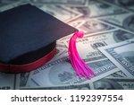 graduation cap one hundred... | Shutterstock . vector #1192397554