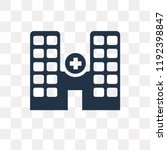 hospital vector icon isolated... | Shutterstock .eps vector #1192398847