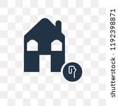 animal shelter vector icon... | Shutterstock .eps vector #1192398871