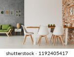 hipster open space loft room... | Shutterstock . vector #1192405417