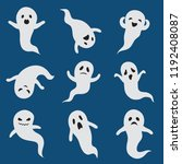 scary ghosts. cute halloween... | Shutterstock .eps vector #1192408087