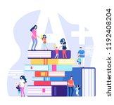 kids learning concept.... | Shutterstock .eps vector #1192408204