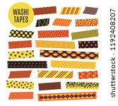 halloween tape strips. orange... | Shutterstock .eps vector #1192408207