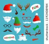 christmas photo booth. santa... | Shutterstock .eps vector #1192408984