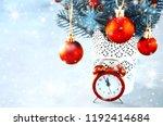 christmas composition  xmas fir ... | Shutterstock . vector #1192414684