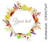 vector illustration. autumnal... | Shutterstock .eps vector #1192417147