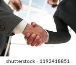 photo of handshake of two happy ... | Shutterstock . vector #1192418851