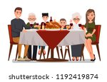 christmas   thanksgiving... | Shutterstock .eps vector #1192419874