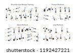 big set of people doing...   Shutterstock .eps vector #1192427221